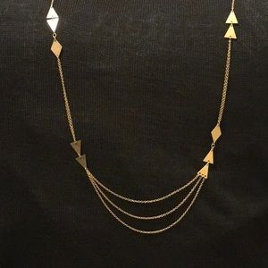 Jewelry - ** 3 for $45 SALE ** Gold Triangle Necklace